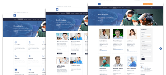 dedicated healthcare pages